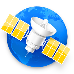 NetNewsWire for Mac icon: globe with a satellite in the foreground.